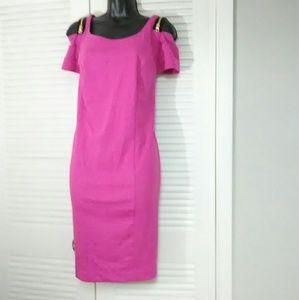 Lane Bryant plus size 16 pink cold shoulder dress